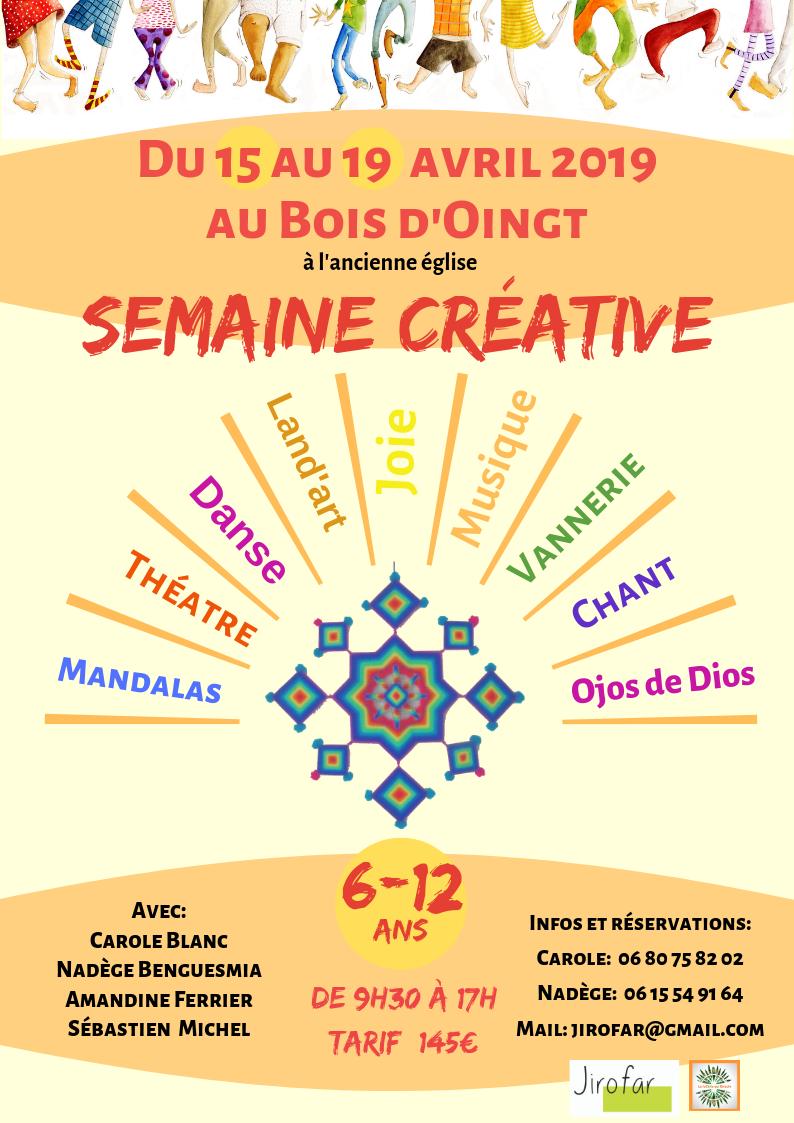 Semaine créative avril 2019